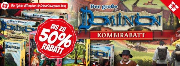 [Spiele-Offensive] Dominion Kombideal | bis zu 50% Rabatt | Brettspiel | Gesellschaftsspiel