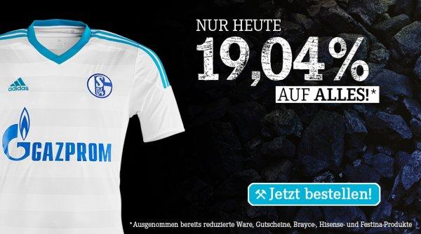 19,04% Rabatt im Schalke Shop