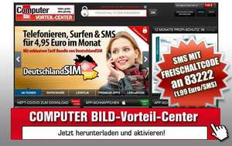 DeutschlandSIM: 50 Min & 50SMS & 200MB UMTS Flat für 4,95€/Monat und ohne Anschlussgebühr über Computerblöd