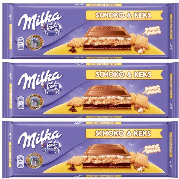 [HIT] 3x Milka Tafelschokolade 200-300g für nur 1,21€/Tafel (Angebot+Coupon) [NUR Mi+Do.]