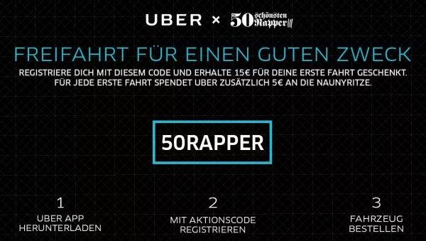 15 € Gutschein für erste Uber Fahrt