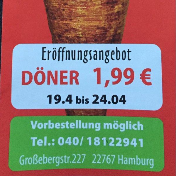 [Lokal] Hamburg-Altona Döner 1,99 Eröffnungsangebot bei Ali Baba Döner und Grill