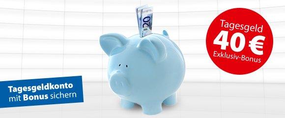 Consorsbank Tagesgeld-Konto 40 Euro Auszahlung und 1% p.a. (1 Jahr fest) über check24.de