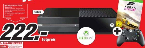 [Lokal Mediamarkt Zwickau] Xbox One 500GB Spielekonsole - Bundle inklusive Forza Horizon 2 (2014) für 222,-€