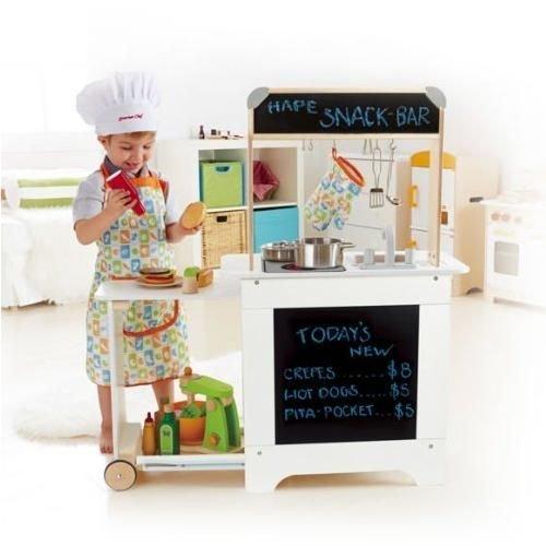 Amazon -Hape All in One Küche Kinderküche Spielküche Kochen Holz Spielzeug Koch Tafel