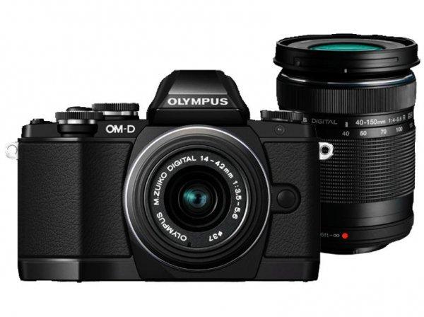 OLYMPUS OM-D E-M10 Systemkamera mit 2 Objektiven (14-42 mm, 40-150 mm) + Speicherkarte bei MEDIAMARKT für 599 €