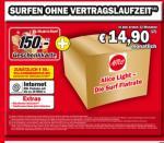 Alice DSL ohne Vertragslaufzeit mit 150€ Media Markt Gutschein wieder da! OFFLINE