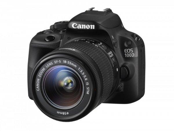Canon EOS 100 D (EF-S 18-55mm IS STM) Digitale Spiegelreflexkamera schwarz BESTPRICE 367,08€ mit Gutscheincode APRIL8