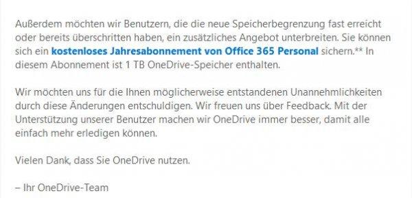 Office 365 Ein-Jahres-Abo für One Drive Nutzer
