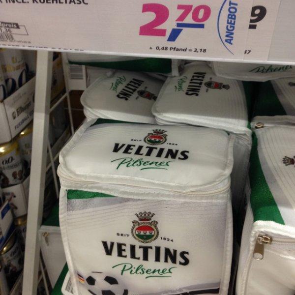 Real Krefeld (bundesweit??) Veltins Pilsener 6x 0,33l + gratis Kühltasche 2,70€ und Pfand 0,48€
