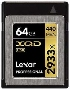Amazon - Lexar Professional 2933x 64GB XQD 2.0 Card (Up to 440MB/s Read) für 101,22€