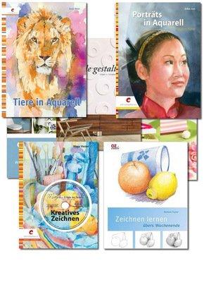 Das große Kreativ Paket - Malen, Zeichen, Basteln, Gestalten (7 Bücher) für 19,99€ @ terrashop