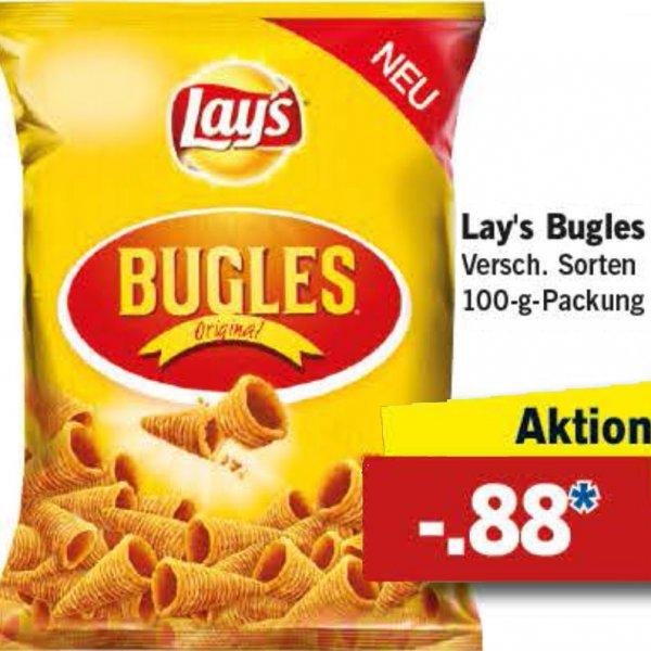 Lay's Bugles Chips 48% sparen, für nur 88 Cent [Lidl bundesweit]