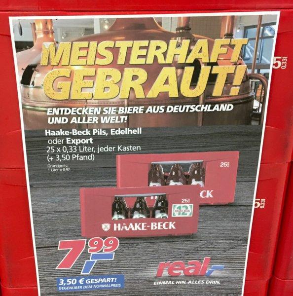 [Lokal Bremen] Bier! Kiste Haake Beck 25x0,33l bei Real