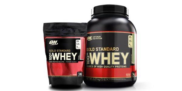 Optimum Nutirition: Gratis 450 g Beutel zu jeder 100% Whey Gold Dose (2,3 kg)