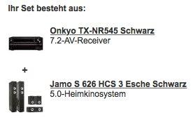Onkyo TX-NR545 + Jamo S 626 HCS3 für 699€ @ Redcoon - 7.2 AV-Receiver mit 5.0 Lautsprecherset