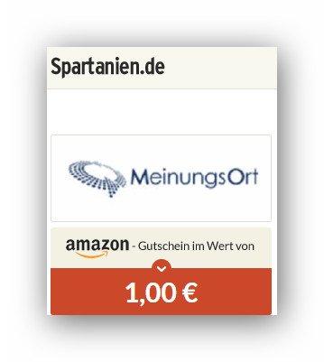 Spartanien:1 Euro für wenig Aufwand.