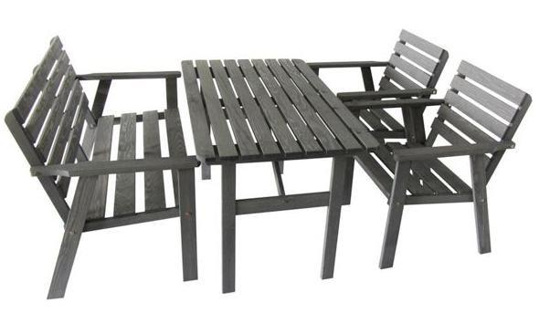 [XXXL] Gartenmöbel Sale mit gratis Versand, z.B. Sitzgruppe (Tisch + Bank + 2 Stühlen aus Kiefer) für 99€ statt ca. 140€