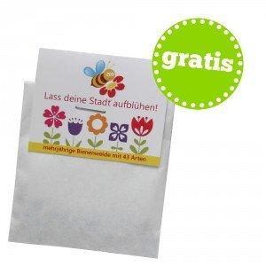 Kostenloses Saattütchen für bienenfreundliche Blumen - Lass deinen Balkon aufblühen!