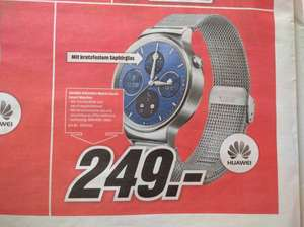 [lokal MM Marburg] Huawei Watch Classic mit Netzarmband