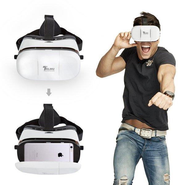 Telmu 3D-Brille Virtual Reality VR Headset für 4-6Zoll Smartphones [amazon]