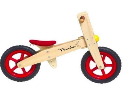 [Amazon Marketplace] Kinder Holz Laufrad Kinderrad Number 1 Holz für 29,95€ statt ca. 55€