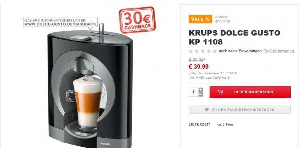 [ XXXL Shop ] Krups Dolce Gusto KP 1108 Maschine für fast geschenkt