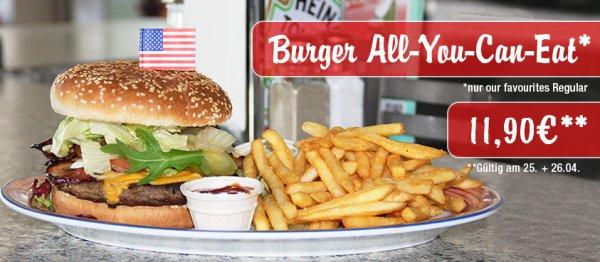 Burger - All You Can Eat, für nur 11,90 € bei Miss Pepper am 25.&26.04