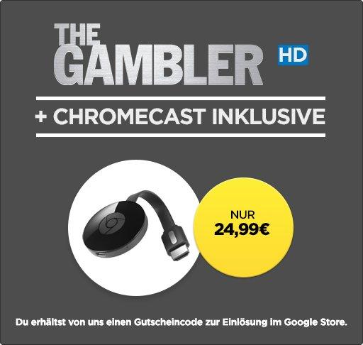 Google Chromecast 2 für 24,99 € + The Gambler (HD) [wuaki]
