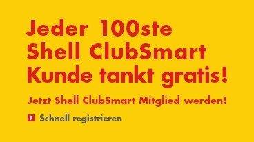 [Shell] jeder 100 Clubsmart Kunde Tank Gratis