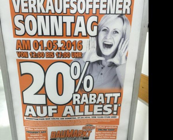 Globus (Weinstadt) 20% AUF ALLES
