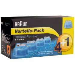 Braun Clean&Renew CCR 4+1 (5-er Pack) Reinigungskartuschen [xenudo]