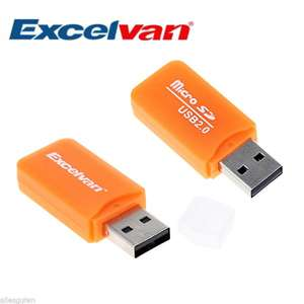 2 x Excelvan Kartenlesegeräte für Micro-SD- oder TF-Karten mit USB 2.0 für zus. 1 Euro inkl. Versand aus Deutschland