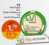 [Bundesweit, Müller] KW17: CV Anti-Pickel 2in1 Puder & Make-up -41% [Angebot + Coupon]
