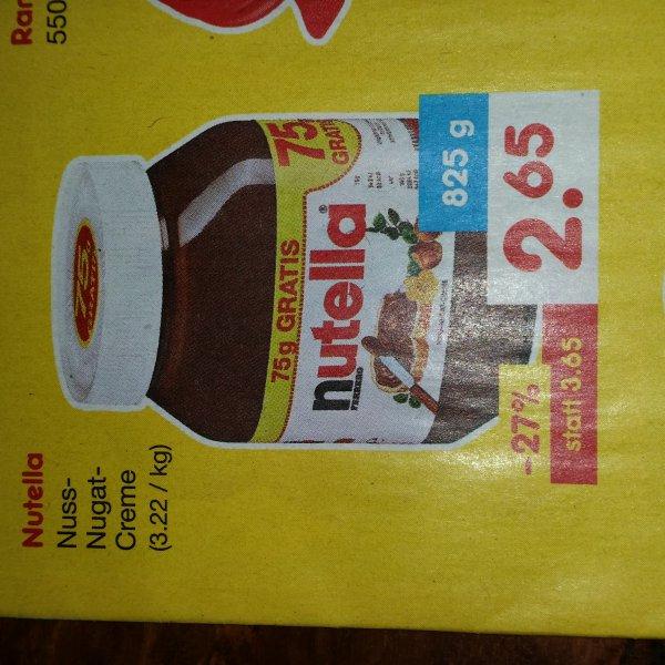 Nutella 825g   2,65€   Netto ohne Hund