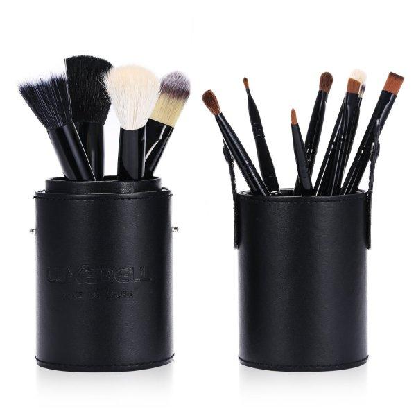 Amazon = Luxebell® 12 Stück Schminkbürsten/Kosmetikbürsten (pink, türkis, schwarz) € 7,99