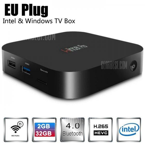 Wintel Pro CX-W8 TV Box (Windows 10 - Atom Z8300 Quadcore) mit 4K Unterstützung H.265