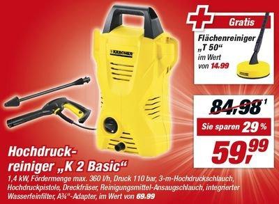 [TOOM Baumarkt] Kärcher K2 Basic + T50 Flächenreiniger