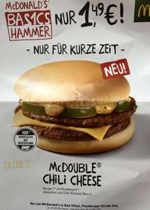 [Lokal: 61118 Bad Vilbel] Mc Double Chili Cheese 1,49€