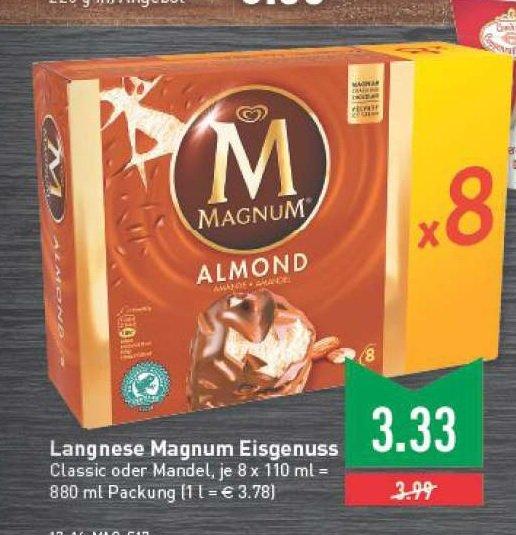 8er Packung  Magnum Classic oder Mandel  3,33€ im Marktkauf RheinRuhr