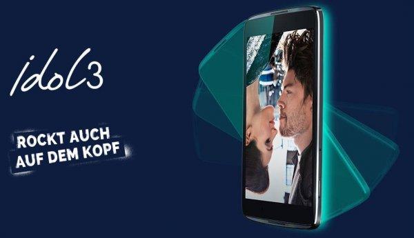 "Alcatel Idol 3 5,5"" Single SIM (6045Y), 13 MP, Snapdragon 615 Octa-Core, 2x1,2W Stereo Speaker in black für 179,- € @Saturn Potsdam via ebay"