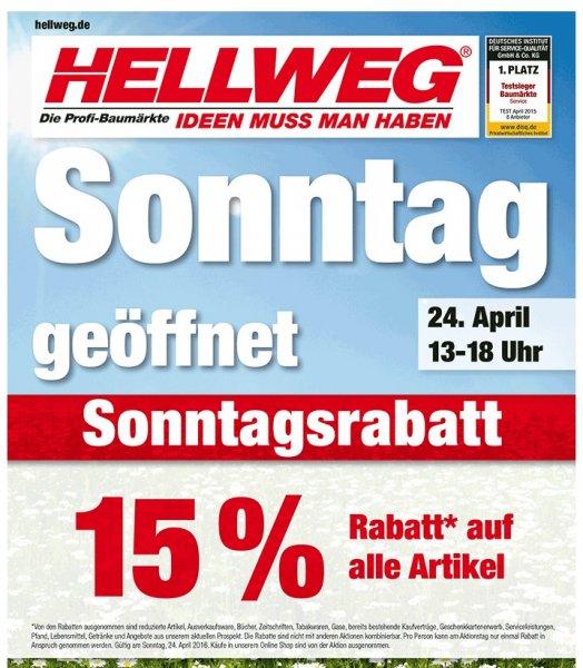 Hellweg - 15% auf Alles *** 24.4.2016 (Berlin)