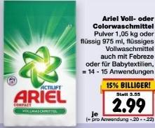 [Kaufland, außer BW,BY] KW17: Ariel Waschmittel -45% [Angebot + Coupon]