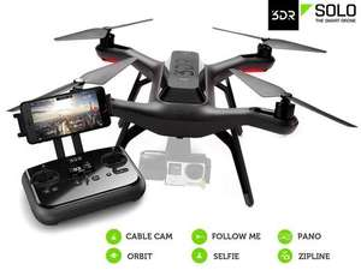 (iBood.de)  3DR Solo Smart Aerial Drohne (ca. 29% unter Idealo)