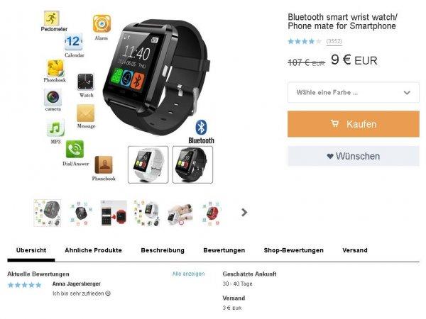 Smart Watch 91% Preisnachlass