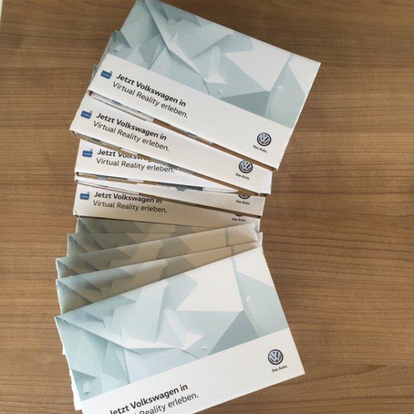 Volkswagen Virtual Reality Brille (Brillenkarton) gratis