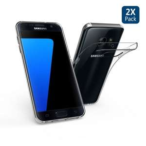 [2 Pack], Samsung Galaxy S7 Hülle Silikon