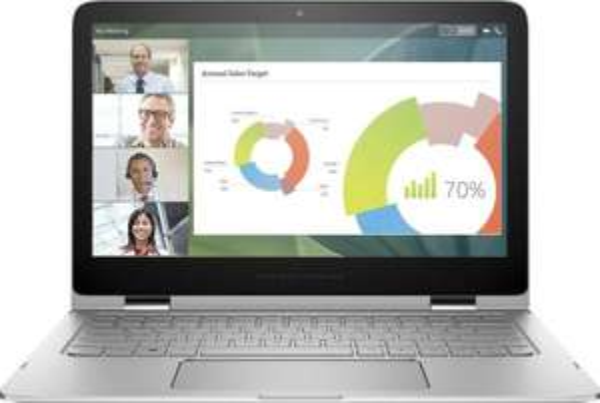 HP Spectre Pro x360 (H9W43EA) 33,8 cm (13,3 Zoll) Convertible Business Notebook (Intel Core i7-5600U, 8 GB RAM, 256 GB SSD, 4K QHD Bildschirm, Touchscreen, Windows 8.1) silber