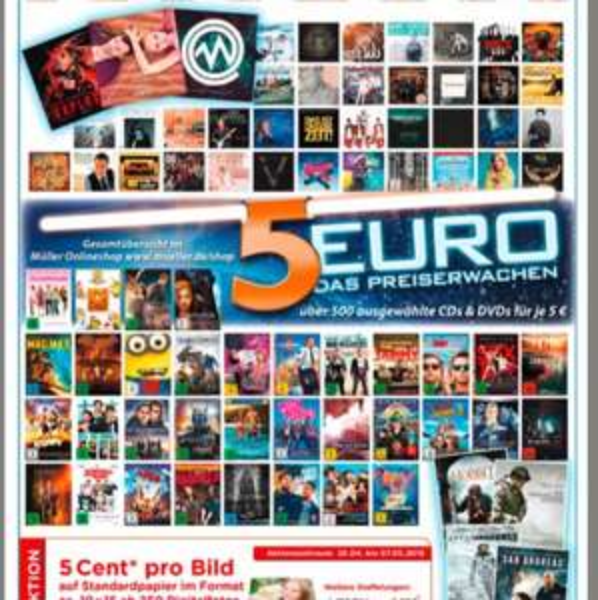 5 € Aktion beim Müller (über 800 Titel DVDs/CDs)