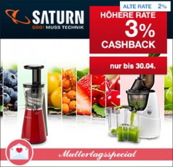 Saturn 3% Cashback auf alle Artikel bei Qipu [Qipu.de]